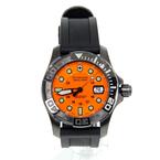 Men's Victorinox Swiss Army Dive Master 500 Orange Dial Gunmetal Watch - 241428
