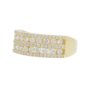 Ladies Vintage Classic Estate 14K Yellow Gold Round Diamond Ring Band - 1.35CTW