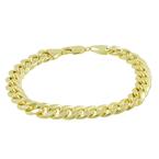 Men's Vintage Classic Estate 10K Yellow Gold Curb Link Chain Bracelet - 8.5 inch
