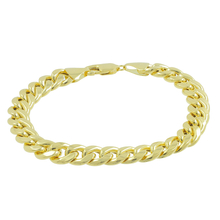 Men's Vintage Classic Estate 10K Yellow Gold Curb Link Chain Bracelet - 8.5 inch