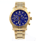 Invicta Specialty Chronograph Blue Dial Yellow Gold-Tone Men's Watch - 18162