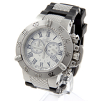 Invicta 16877 Subaqua Chronograph Silver Dial Black Silicone Band 50mm Watch