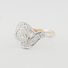 Lovely 14K Vintage Soviet Era Hallmarked 0.75 Round Diamond Ladies Ring
