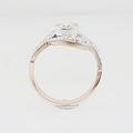 Lovely 14K Vintage Soviet Era Hallmarked 0.75 Round Diamond Ladies Ring