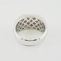 Jaw Dropping Mens 2.22ct Princes Cut Diamond 14K White Gold Designer Ring