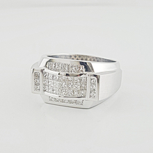 Jaw Dropping Mens 2.22ct Princes Cut Diamond 14K White Gold Designer Ring