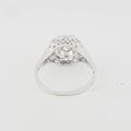 Gorgeous Estate 20K White Gold Vintage Wedding Engagement Milgrain Accent Ring