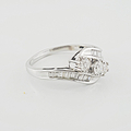 Lovely Ladies 1.10 Carat Total Diamond Right Hand14K White Gold Bypass Ring