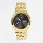 Citizen Eco-Drive Gold-Tone Black Dial Stainless Steel Watch - E101-S072994
