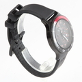 Men's Glycine Combat SUB Chronograph Black/Red Dial Rubber Band Watch 3915.99-D9