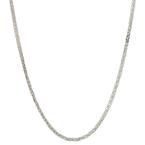 Ladies Men's Vintage Estate 18K White Gold Square Wheat Chain Necklace - 15 inch
