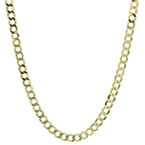 Men's Vintage Estate 14K Yellow Gold Flat Curb Link 22-inch Chain Necklace