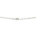 Ladies Classic Estate 18K White Gold Diamond-Cut Beaded Chain Necklace - 17 inch