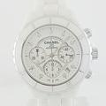 Chanel J12 41mm White Ceramic Automatic Chronograph Diamond Markers Watch
