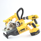 DeWalt Tool Kit: DW938 Sawzall, DW936 Circular Saw, DW997 Hammer Drill, DW919 Flashlight