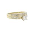 Ladies Estate 14K Yellow Gold Diamond Engagement Ring & Wedding Band Duo Set - 1.00CTW