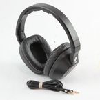 Skullcandy Crusher Wired Headphones with Built-in Amplifier and Mic - Black