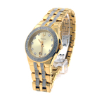 Bulova Swarovski Crystal Gold-Tone Stainless-Steel Quartz 42mm Watch - 98B174