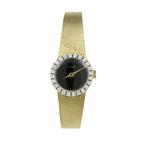 Authentic Vintage Concord Mechanical 14K Gold Diamond Bezel Ladies Watch 0.72CTW