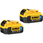 DeWalt DCB204BT-2 20-Volt MAX XR Li-Ion Battery Pack 4.0Ah w/ Bluetooth - NEW