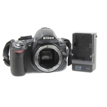 Nikon D3100 DSLR 14.2 MP Digital SLR Camera Body w/ Battery and Charger - Black
