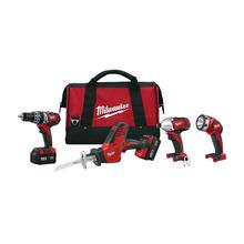 Milwaukee 2695-24 M18 18V Cordless Tool Set Reciprocating Saw Impact Driver NEW
