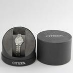Ladies Citizen Japanese Quartz White Face Swarovski Crystal Watch - EQ0530-51D