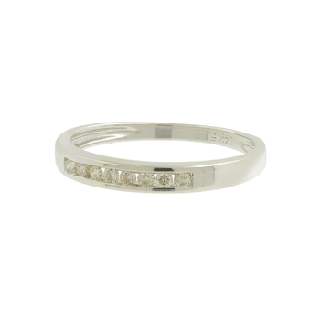 Ladies Vintage Estate 14K White Gold Diamond Wedding Anniversary Ring Band