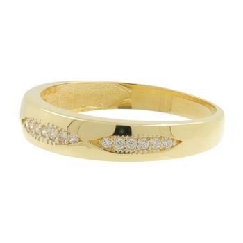 Ladies Vintage Classic Estate 14K Yellow Gold Cubic Zirconia Gemstone Ring Band