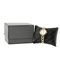 Ladies Bulova Mother of Pearl Dial Gold Tone Stainless Steel 30mm Watch - 97L138