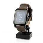 Vector Meridian Smartwatch Black Case Brown Leather Band Activity Tracker Watch