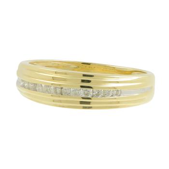 Ladies Vintage Classic Estate 10K Yellow Gold Round Diamond Ring Band