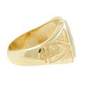 Men's Vintage Classic Estate 14K Yellow & White Gold Masonic Signet Diamond Ring