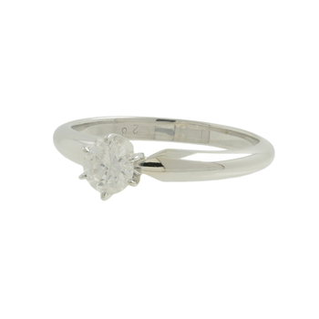 Ladies 14K White Gold Round Diamond Solitaire Engagement Ring 0.28CT - New