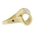 Ladies Vintage Estate 14K Yellow Gold Diamond Swirl Bypass Ring - 0.52CTW