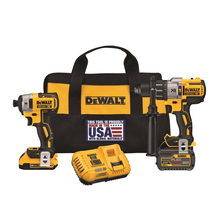 DeWalt Flexvolt Brushless Hammer Drill & Driver, Charger, 2 Batteries Combo Tool Kit - DCK299D1T1
