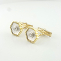 Mens 18K Luxuries Brilliant Round Half Carat Total Diamond Custom Made Cufflinks