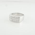 Mens 14K White Gold Triple Row Round Princess & Emerald Cut 1.39 CT Diamond Ring
