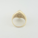 Ladies Estate Pyramid Shaped 14k Yellow Gold 1.30 CTW Cluster Diamond Ring