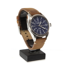 Timex Expedition Indiglo 40mm Blue Dial Brown Leather Strap Men's Watch - T4B018
