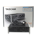 Tascam US-2x2 USB Audio MDI Interface For Studio Recording Equipment - Mint