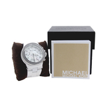 Michael Kors White Dial White Ceramic Band Chronograph Women's Watch - MK5391