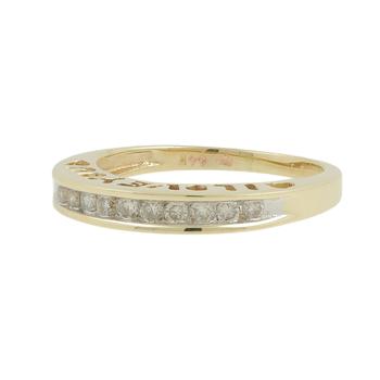 "Ladies Vintage Classic Estate 10K Yellow Gold Diamond ""I Love You"" Ring Band"