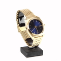 Nixon Minimal The Time Teller 37mm Blue Dial Gold Tone Stainless Steel Watch