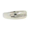 Men's Vintage Estate 10K White Gold Round Diamond Wedding Ring Band - 0.40CTW
