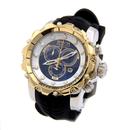 Invicta 'Venom' Gold-Tone Stainless Steel Black Rubber Band Men's Watch - 20406