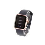 Apple Watch Series 1 42mm Rose-Gold Case Midnight Blue Sport Band - MNNM2LL/A