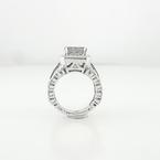 Princess-Cut 3.28 Carat Total Diamond Ladies Engagement Ring 14K White Gold