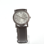 Gucci 5200M.1 Stainless Steel Silver Dial Brown Leather Band Men's Watch