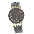 Rado DiaStar 152.0343.3 Black Dial Leather Band Date Men's Swiss Watch